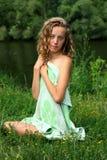 детеныши природы девушки Стоковые Фото