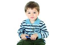 детеныши прокладки куртки мальчика Стоковое фото RF