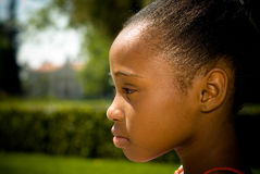 детеныши профиля s девушки афроамериканца Стоковое Изображение