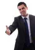 детеныши рукопожатия бизнесмена готовые Стоковое фото RF