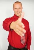 детеныши рукопожатия бизнесмена Стоковые Фотографии RF