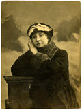 детеныши сбора винограда портрета девушки Стоковые Фотографии RF