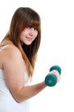 детеныши свободного вне предназначенного для подростков веса женщины работая Стоковые Изображения RF