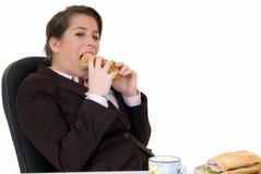 детеныши секретарши обеда пролома Стоковые Изображения RF