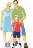 детеныши семьи счастливые Стоковое Изображение