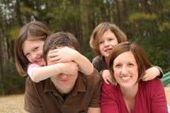 детеныши семьи Стоковая Фотография