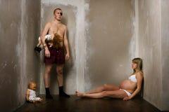 детеныши семьи Стоковые Изображения RF