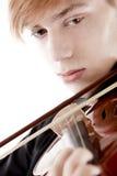 детеныши скрипача портрета Стоковое Фото