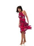 детеныши солнца платья красотки красные Стоковая Фотография RF