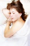 детеныши спать девушки Стоковые Фото