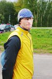 детеныши спортсмена портрета человека Стоковая Фотография RF