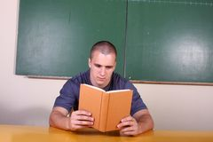детеныши студента чтения стоковые изображения