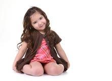 детеныши телезрителя ребенка милые сь стоковое изображение