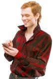 детеныши телефона номера человека шкал Стоковое фото RF