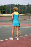 детеныши тенниса игрока Стоковое Изображение