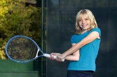детеныши тенниса игрока Стоковое Изображение RF