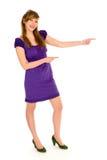 детеныши указывая женщины стоковые фотографии rf