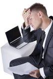 детеныши усиленные бизнесменом утомленные стоковые фотографии rf