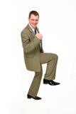 детеныши успеха усмешки бизнесмена Стоковое Изображение