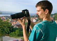 детеныши фотографа Стоковое фото RF