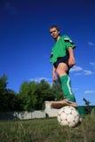 детеныши футбола игрока Стоковое Фото