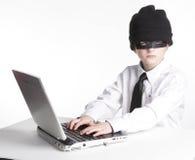 детеныши хакера компьютера Стоковые Фото