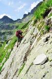 детеныши человека альпиниста Стоковые Фотографии RF