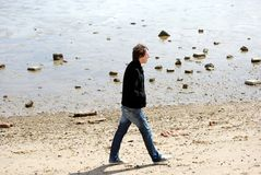 детеныши человека пляжа Стоковое Изображение RF