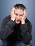 детеныши человека утомленные Стоковое Фото