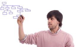 детеныши человека чертежа потока информации дела Стоковые Изображения RF