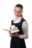 детеныши чтения книги женские Стоковые Изображения
