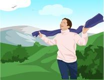детеныши шарфа человека Стоковая Фотография RF