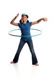 детеныши hula обруча девушки Стоковые Изображения RF