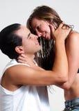 детеныши intimate foreplay пар Стоковое Изображение