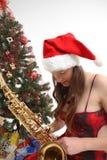 детеныши saxo девушки Стоковая Фотография RF