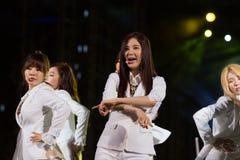 Детеныши Soo (диапазон SNSD) на фестивале EquilibriumConcert Кореи человеческой культуры в Вьетнаме Стоковые Изображения RF