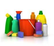 Детержентные бутылки и химикат Стоковое Изображение