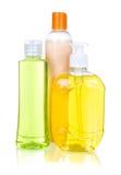 Детержентные изолированные бутылки Стоковое Фото