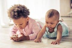 Дети американца Афро Стоковые Фото