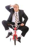дети бизнесмена велосипеда идут s Стоковое Изображение