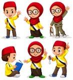 Дети Брунея в костюмах иллюстрация вектора