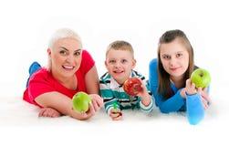 дети будут матерью 2 детенышей Стоковое Фото