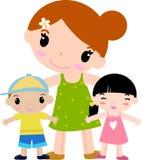дети будут матерью 2 иллюстрация вектора