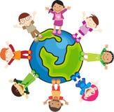 дети выращивают в питательной среде: multi Стоковое Фото