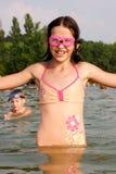 Дети в воде Стоковая Фотография