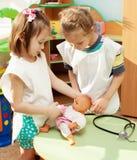 Дети в детском саде Стоковые Фотографии RF