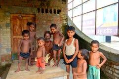 Дети в индийском селе стоковые фотографии rf