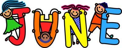 Дети в июне иллюстрация вектора
