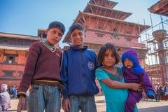 Дети в квадрате Durbar Стоковое Изображение
