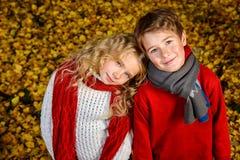 Дети в ноябре Стоковые Фотографии RF
